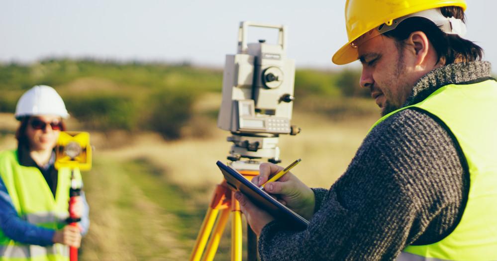 surveying engineers at work